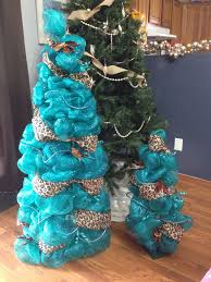 4 Christmas Tree With Lights by Ribbon Mesh Christmas Tree Teal And Cheetah Print Ribbon 200
