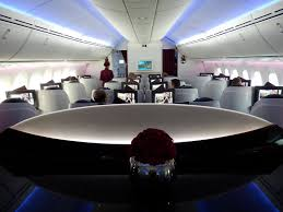 Boeing 787 Dreamliner Interior Qatar Airways First To Fly Boeing 787 Dreamliner To Clark