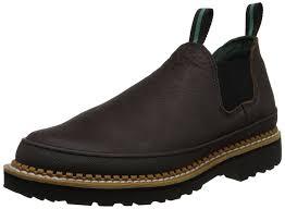 slip on motorcycle boots amazon com georgia giant men u0027s romeo slip on work shoe shoes