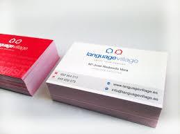 tarjeta de visita diseo tarjetas de visita cursos de inglés language village