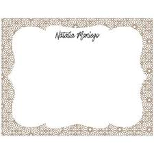 gold floral personalized boxed note cards pepa prints