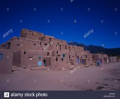 taos pueblo indian habitation division new mexico united states of