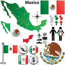 regions of mexico map mexico map with regions stock vector image of mexico 29436464