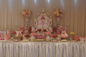 ballerina candy buffet by ooh la la lolly bars pink white and a