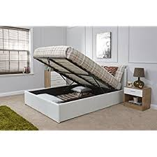 Madrid 4ft6 Double Wooden Ottoman Bed Solid White Amazon Co Uk