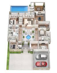 4 bedroom house floor plans 3d