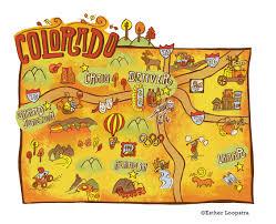 Colorado Tourism Map by Denver Post U2022 Colorado Map Series U2014 Esther Loopstra