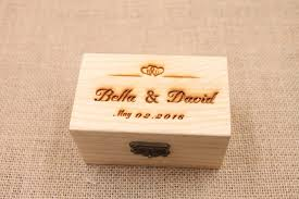 customized wedding gift rustic wedding ring bearer box personalized wedding ring box