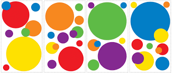 colorful dots wall removable decals wall2wall