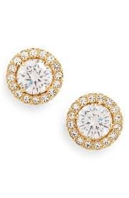 circle stud earrings nadri cubic zirconia stud earrings nordstrom