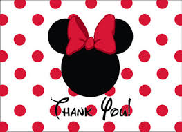 minnie mouse thank you cards minnie mouse thank you card in minnie mouse and mice