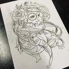 36 catrina tattoos designs