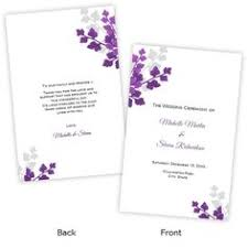 folded wedding program template table number template two intertwined hearts diy by ajsprints