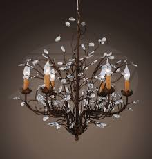 Bronze And Crystal Chandeliers Grand Charlotte Splendid Antique Bronze 6 Light Crystal Chandelier