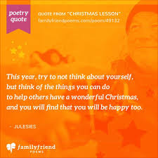 help with christmas poem about thinking of others at christmas christmas lesson