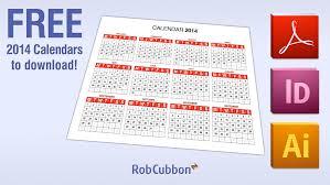 free download 2014 calendar in pdf illustrator ai indesign