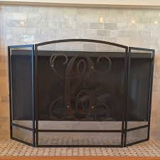 home decor monogrammed fireplace screen augusta monogram