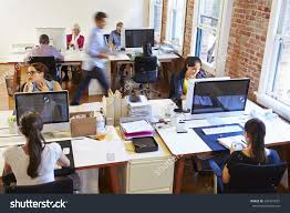 Design Office Royalty Free Wide Angle View Of Busy Design Office U2026 284519087