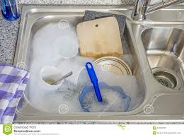Dirty Dishes In A Kitchen Sink Stock Photo Image - Dirty kitchen sink