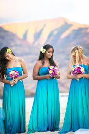hawaiian themed wedding dresses ombre bridesmaid dresses on the hunt