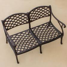 Heritage Patio Furniture Heritage Cast Aluminum Patio Loveseat By Lakeview Outdoor Designs