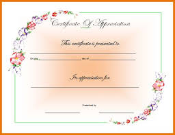 certificate of appreciation template for word 30 free certificate