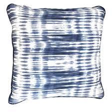 ikat stripe pillow blue u0026 white ikat stripe fabric