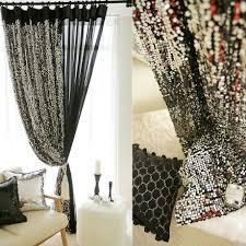 handmade decorative shiny silver sequins curtain metallic panel