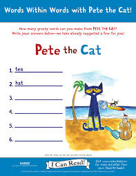 pete the cat activities petethecatbooks