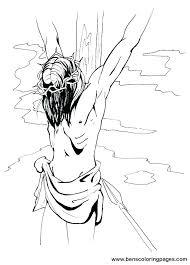 coloring page cross on the cross coloring page on the cross coloring