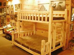 Log Bunk Bed Kit  Log Bed Kits  FREE SHIPPING The Log - Timber bunk bed