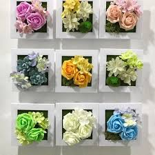 artificial flowers for home decoration pe rose silk flower photo frame wall decoration artificial flowers