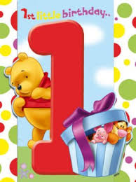 winnie pooh bear 1st birthday card amazon uk toys u0026 games