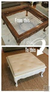Fabric Coffee Table by Coffee Table Diy Tufted Fabric Ottoman From An Old Table Make It