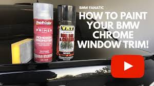 how to paint your bmw chrome window trim gloss black youtube