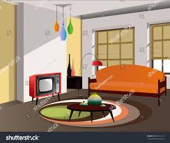 60 S Design Retro 60s Interior Design Stock Vector 355516118 Shutterstock