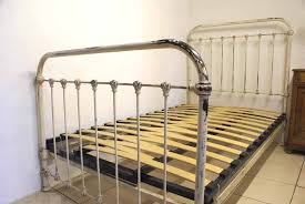 Shabby Chic Metal Bed Frame by 1930s French Shabby Chic White Iron Bed Includes Base
