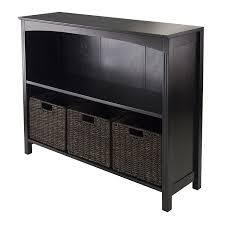 amazon com winsome terrace 7 piece storage shelf bookcase 37 by