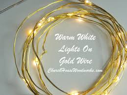 warm white lights on gold wire led battery lights bedroom