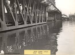 Portland Flooding Map by Steel Bridge 1948 Vintage Portland