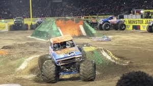 monster truck jam anaheim monster jam anaheim 4 freestyle youtube