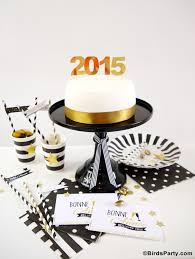 Diy New Years Decorations 2015 by Black White U0026 Gold New Year U0027s Eve Party Ideas Party Ideas