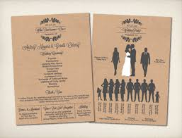 diy wedding program template vintage bells co modern vintage wedding stationery