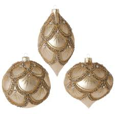Glass Christmas Ornament Sets - poinsettia glass christmas ornament set raz 3722903