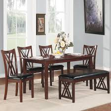 shop homelegance brooksville cherry 6 piece dining set at lowes com homelegance brooksville cherry 6 piece dining set