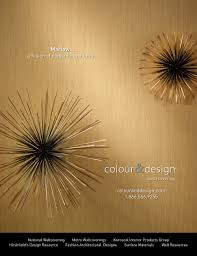Colour  Designs Marlow Wallcovering Advertisement For October - Wall covering designs
