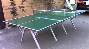 collapsible ping pong table ping pong table folding and portable youtube
