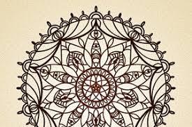 mandala thin line indian style graphics creative market
