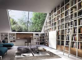 bureau bibliothèque intégré behome par nippert