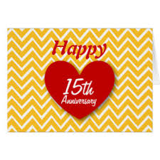 15th wedding anniversary cards invitations greeting photo